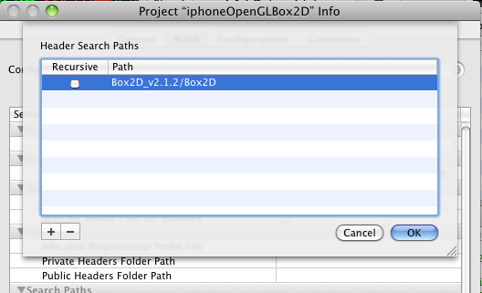 iPhone Box2D project settings header